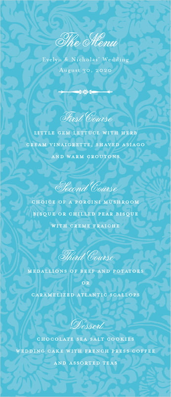 custom menus - sky - magnolia (set of 10)