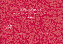 custom response cards - deep red - magnolia (set of 10)