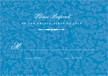 custom response cards - blue - magnolia (set of 10)