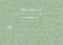 custom response cards - sage - magnolia (set of 10)