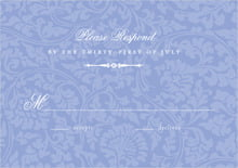 custom response cards - periwinkle - magnolia (set of 10)