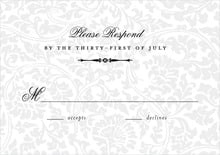 custom response cards - tuxedo - magnolia (set of 10)