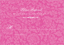 custom response cards - bright pink - magnolia (set of 10)