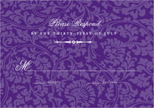 custom response cards - purple - magnolia (set of 10)