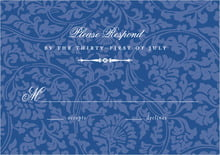 custom response cards - deep blue - magnolia (set of 10)