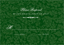 custom response cards - deep green - magnolia (set of 10)