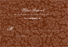 custom response cards - chocolate - magnolia (set of 10)