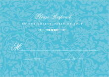 custom response cards - sky - magnolia (set of 10)