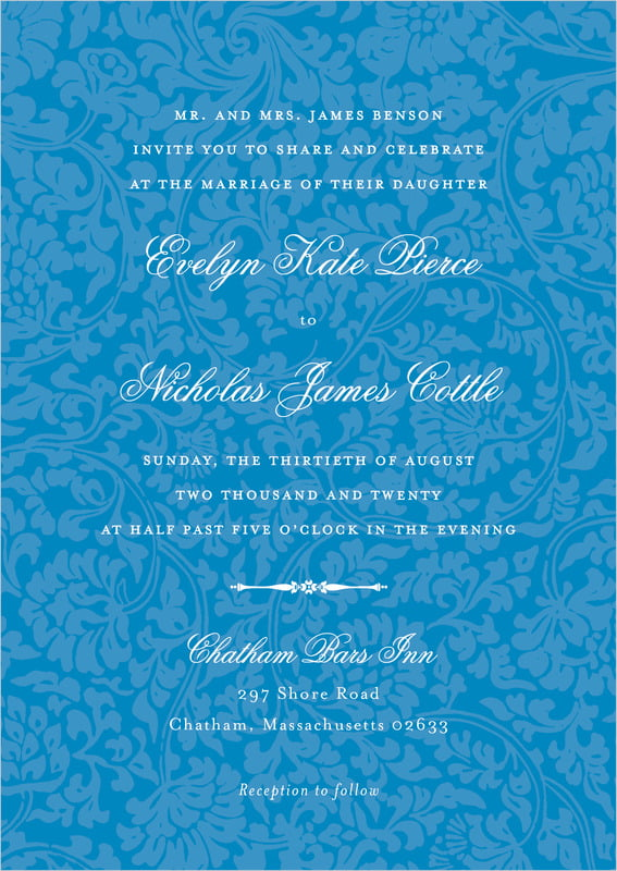 custom invitations - blue - magnolia (set of 10)