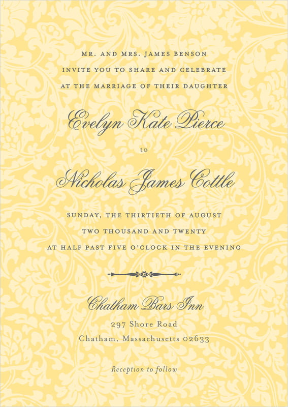 custom invitations - sunburst - magnolia (set of 10)