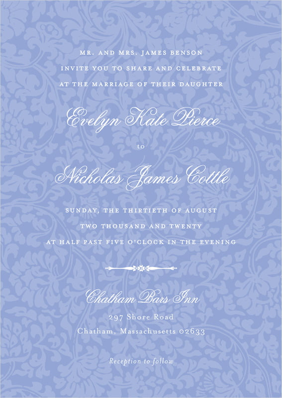 custom invitations - periwinkle - magnolia (set of 10)