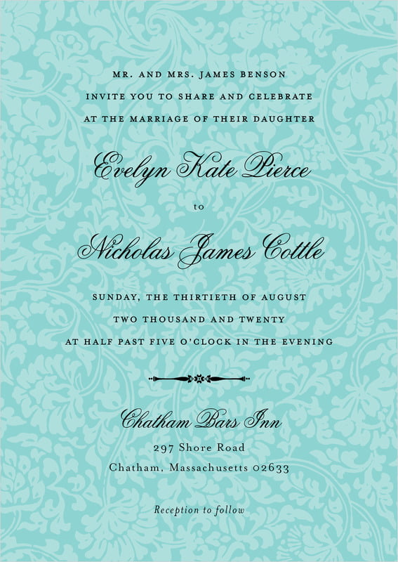 custom invitations - aruba - magnolia (set of 10)