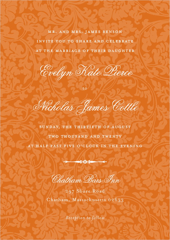 custom invitations - spice - magnolia (set of 10)