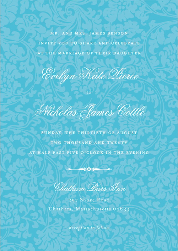 custom invitations - sky - magnolia (set of 10)
