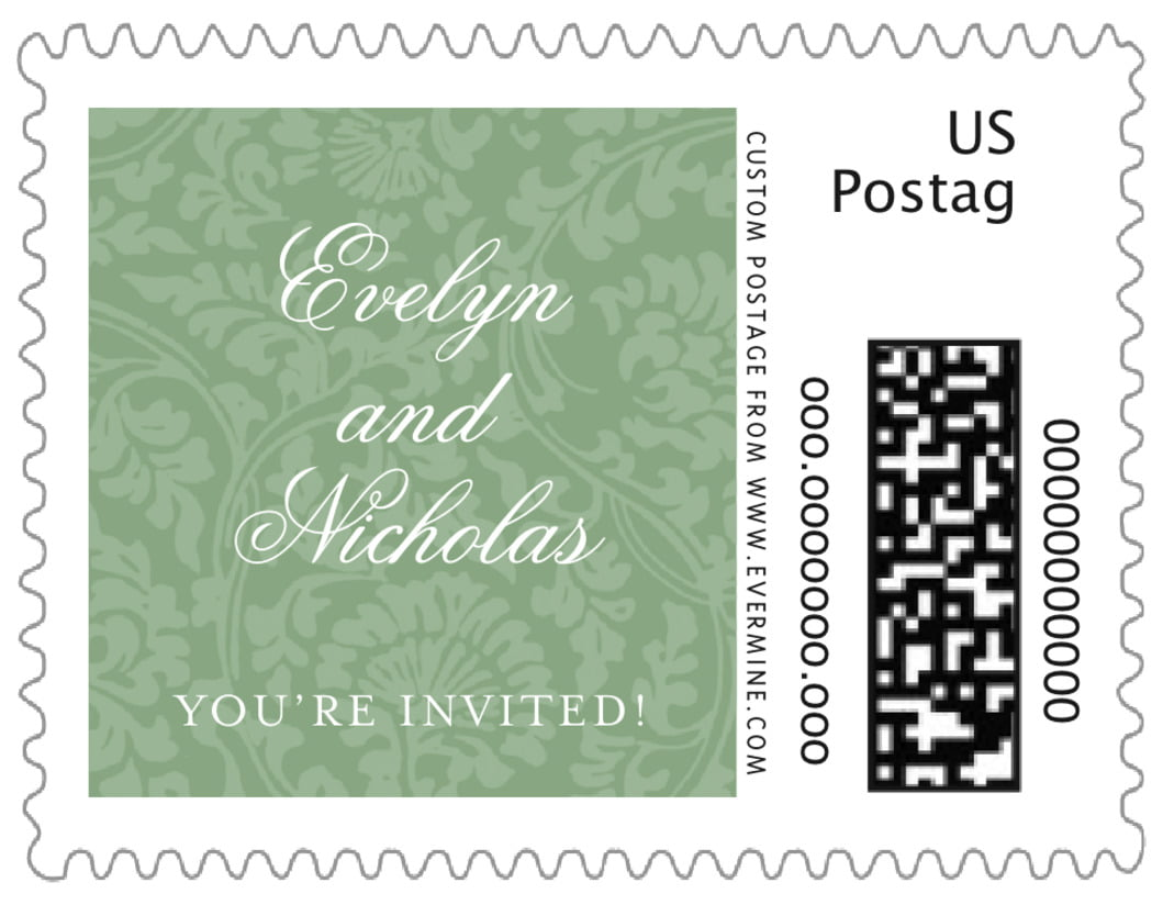 small custom postage stamps - sage - magnolia (set of 20)
