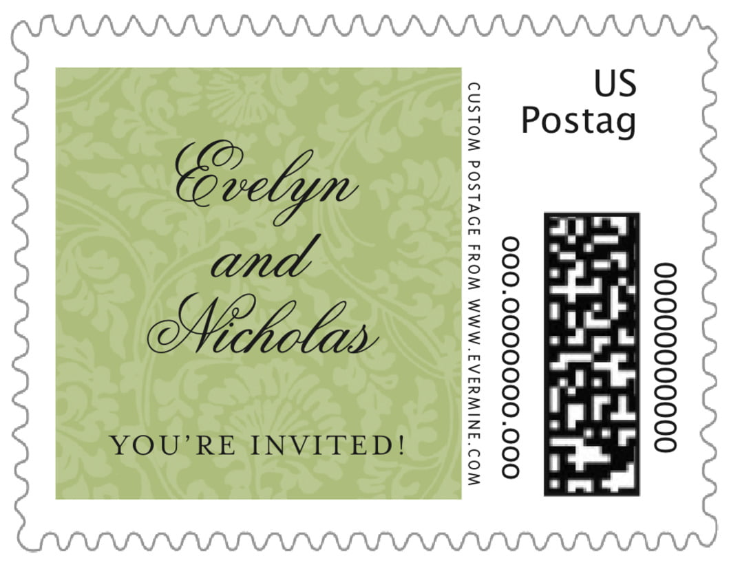 small custom postage stamps - green tea - magnolia (set of 20)