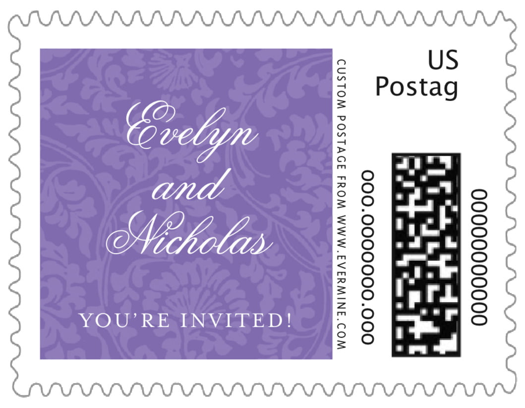 small custom postage stamps - lilac - magnolia (set of 20)