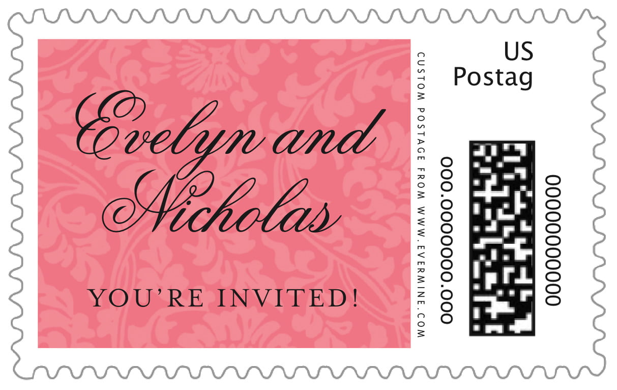 custom large postage stamps - grapefruit - magnolia (set of 20)