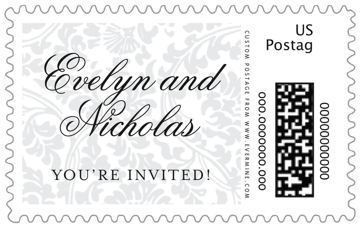 custom large postage stamps - tuxedo - magnolia (set of 20)