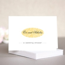 Magnolia wedding note cards