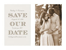 custom save-the-date cards - champagne - classic modern (set of 10)