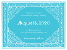 custom save-the-date cards - bahama blue - mai li (set of 10)