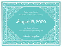 custom save-the-date cards - aruba - mai li (set of 10)