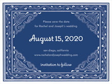 custom save-the-date cards - indigo - mai li (set of 10)