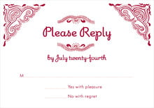 custom response cards - red - mai li (set of 10)