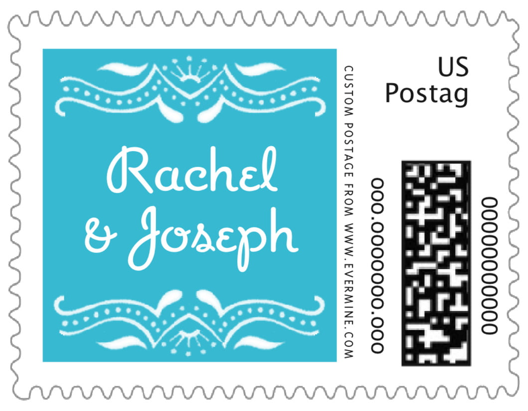 small postage stamps - bahama blue - mai li (set of 20)