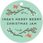 Merry Berries circle hang tags