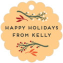 Merry Berries scallop hang tags
