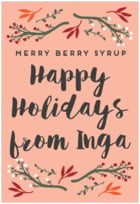 Merry Berries tall rectangle labels
