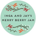 Merry Berries medium round labels