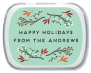 Merry Berries Mint Tin In Sea Glass