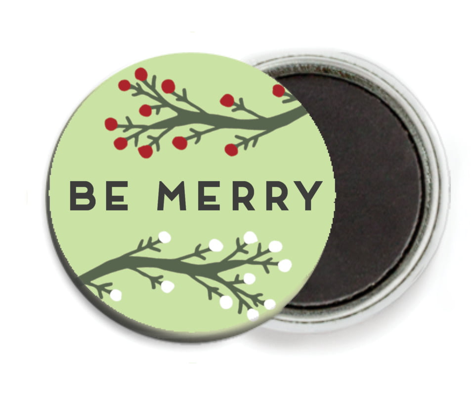 custom button magnets - lime - merry berries (set of 6)