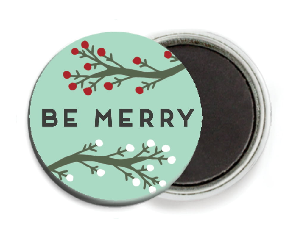 custom button magnets - sea glass - merry berries (set of 6)