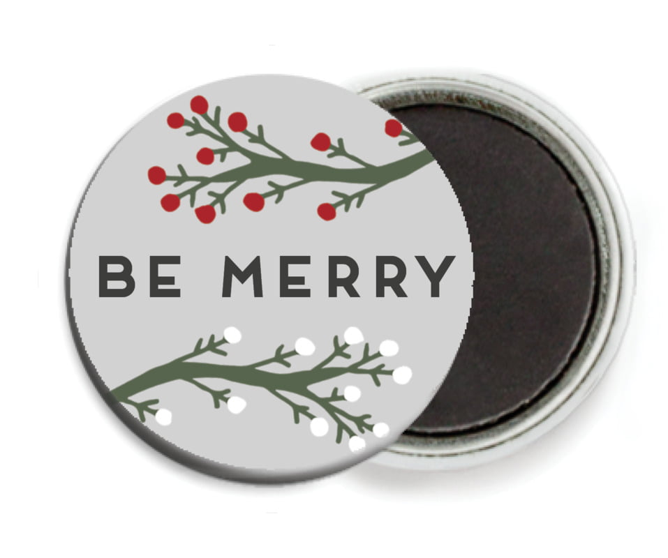 custom button magnets - stone - merry berries (set of 6)
