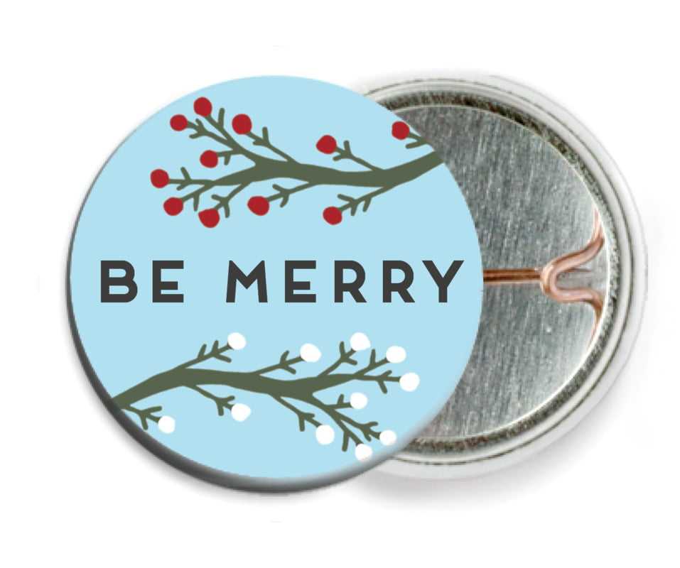 custom pin back buttons - sky - merry berries (set of 6)