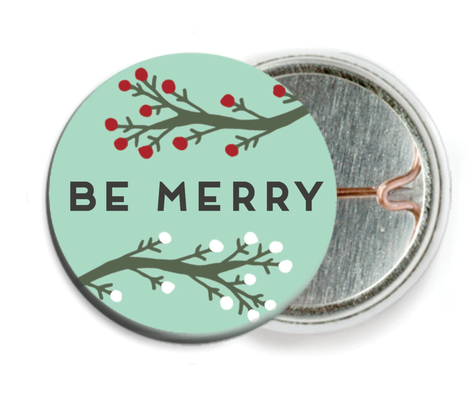 custom pin back buttons - sea glass - merry berries (set of 6)