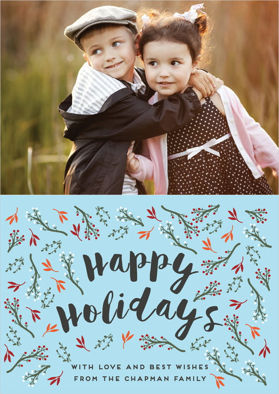 holiday cards - sky - merry berries (set of 10)