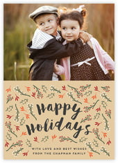 Merry Berries photo cards - vertical