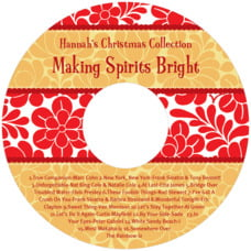 Mele Kalikimaka Cd Label In Red & Gold