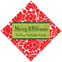 Mele Kalikimaka diamond hang tags