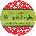 Mele Kalikimaka circle hang tags