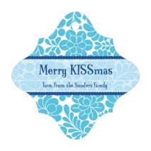 Mele Kalikimaka fancy diamond hang tags