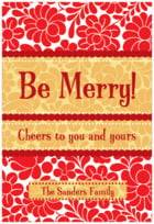 Mele Kalikimaka tall rectangle labels