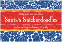 Mele Kalikimaka wide rectangle labels