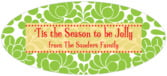 Mele Kalikimaka oval labels