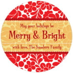 Mele Kalikimaka circle labels